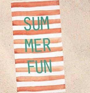 Toalha de Praia Velour Dohler Summer Salmão