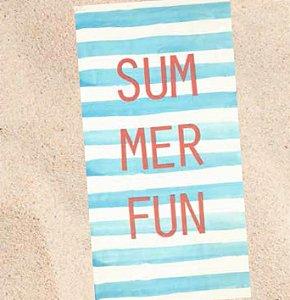Toalha de Praia Velour Dohler Summer Azul
