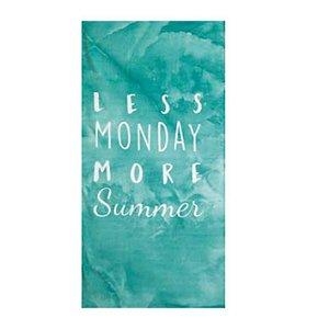 Toalha de Praia aveludada Less Monday More Summer Verde - Dohler