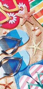 Toalha de Praia Estampada Chinelinhos Sandals - Dohler