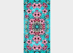 Toalha de Praia Estampada Floral Hibisco Party - Dohler