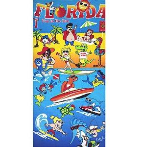 Toalha de Praia aveludada Florida Fun Dohler