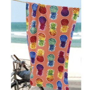 Toalha de Praia Velour Abacaxi Colorful Pineapples - Dohler