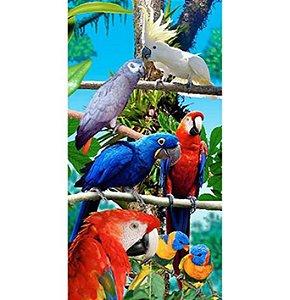 Toalha de Praia aveludada Pássaros Birds Forest Buettner