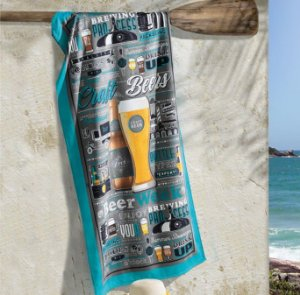 Toalha de Praia Velour Cerveja Beers - Dohler