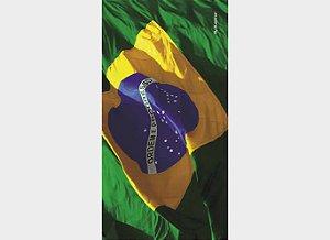 Toalha de Praia Estampada Bandeira do Brasil 03 - Aveludada - Buettner