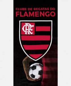 Toalha aveludada do Flamengo 13 - Dohler
