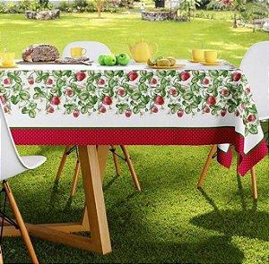 Toalha de Mesa Retangular 140 x 250cm Antiformiga Frutilha Karsten