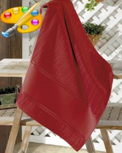 Toalha de Lavabo para pintar Velour Artesanalle - Dohler - Cor Vermelha