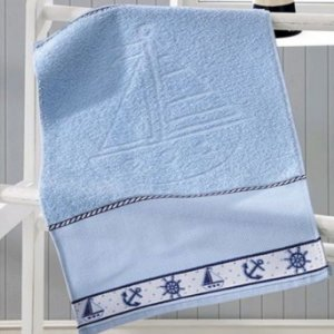 Toalha de Lavabo Azul para Bordar Baby Kids - Marinheiro - Dohler