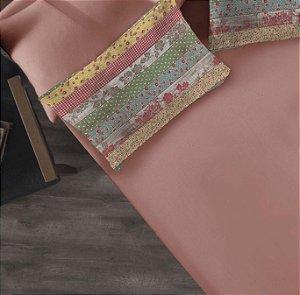 Kit 2 peças Solteiro Lençol com elástico liso + Fronha estampada de Malha Portallar Firenze