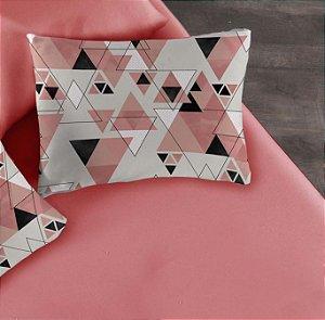 Kit 2 peças Solteiro Lençol com elástico liso + Fronha estampada de Malha Portallar Cubismo