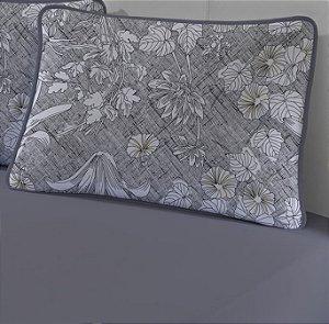 Jogo de Cama Solteiro King 2 peças - lençol com elástico e fronha de Malha Slim Edromania Linho
