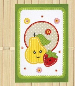 Pano de Copa Felpudo Fruits Pera barra verde - Dohler