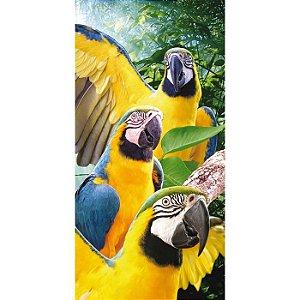 Toalha de Praia aveludada 100% algodão Mult Macaws Buettner