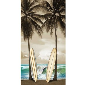 Toalha de Praia Aveludada 100% algodão Surf Board Buettner