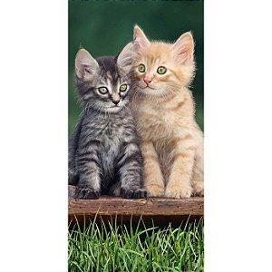 Toalha de Praia aveludada Gatinhos Two Happy Cats Buettner