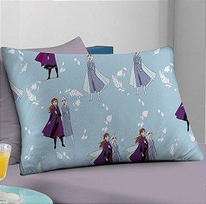 Fronha avulsa Disney 1 peça de Malha Frozen Outono Lilás Portallar