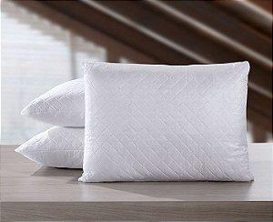 Travesseiro Matelassê 50 x 70cm Suporte Firme Antialérgico Hedrons