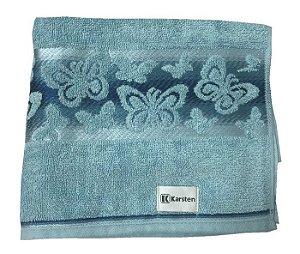 Toalha de Rosto Kristen Azul Borboletas Karsten
