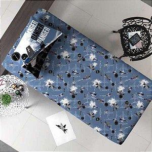 Jogo de Cama Solteiro 2 peças lençol com elástico estampado + fronha de Malha Portal Joy Avião Danger