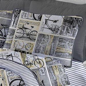 Fronha avulsa 1 peça de Malha 100% algodão Estampada Edromania Tour Aspen Bicicletas