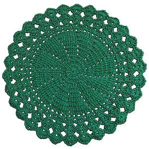 Sousplat de Crochê individual feito à mão Vitória Verde