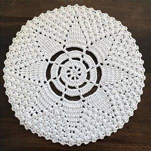 Sousplat de Crochê individual feito à mão Ivy Branco