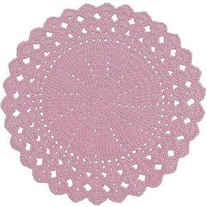Sousplat de Crochê individual feito à mão Vitória Rosa Claro