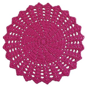 Sousplat de Crochê individual feito à mão Vitória Pink