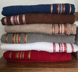 Toalha de Banho 1 peça 100% algodão 75cm x 120cm LM Peter Criativa
