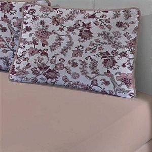 Jogo de Cama Solteiro de Malha 2 peças lençol com elástico e Fronha Edromania Pêssego Ferrara