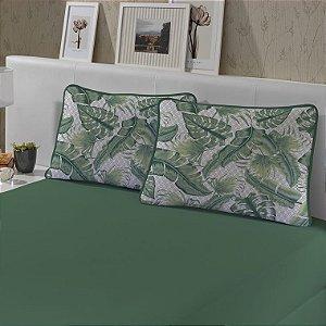 Jogo de Cama King 3 peças de Malha Edromania Slim Verde Green