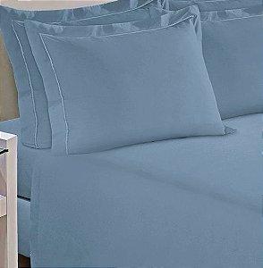 Fronha avulsa 1 peça com abas Percal 200 fios Reffinata Color Buettner Azul