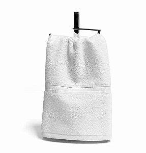 Toalha Social Lavabo 1 peça 100% algodão Egípcio 30cm x 50cm  Macia Bouton Platine Branca