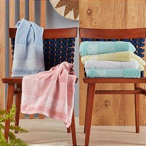 Toalha de Lavabo para Bordar ponto cruz 1 peça 33cm x 50cm Santista 100% algodão Cindy