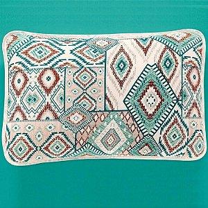 Jogo de Cama Casal  3 peças de Malha 100% algodão lençol com elástico liso e fronhas estampadas Vivaldi Turim