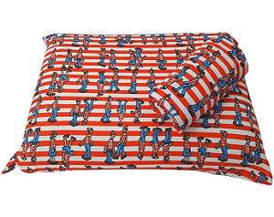 Jogo de Cama Solteiro 2 peças Malha lençol com elástico estampado e Fronha Wally