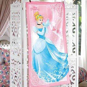 Toalha de Banho Velour Princesa Cinderela Disney