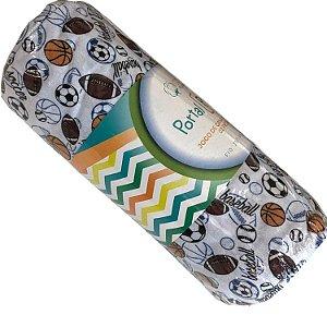 Jogo de Cama Solteiro 2 peças estampadas de Malha lençol com elástico estampado e fronha Baseball