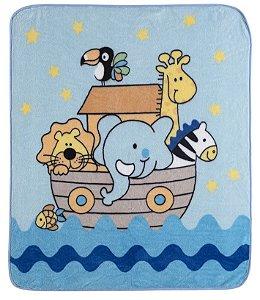 Cobertor para Berço Baby Soft Super Macio Animais na Arca