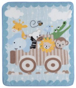 Cobertor para Berço Baby Soft Super Macio Animais Safari