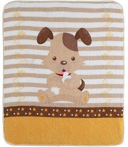 Cobertor para Berço Baby Soft Super Macio Dog
