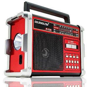 Caixa Som Bluetooth Portátil MP3 FM AM Retrô 550W