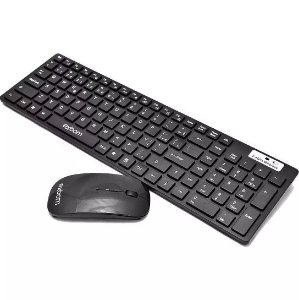Kit Teclado Mouse 3200 dpi Wireless Sensor Óptico Exbom
