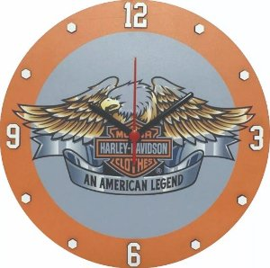Relógio MDF alto relevo, Harley Davidson, Moto, Garagem, Bar