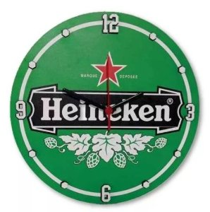 Relógio De Parede Personalizado Heineken MDF Quartzo