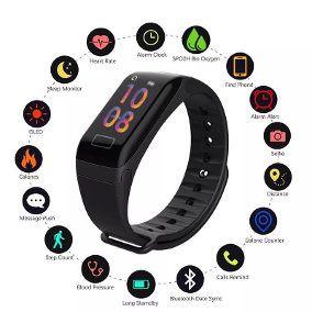 Relógio Inteligente Pulseira Smartband F1 Plus Y5 Monitorart