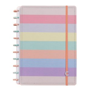 Caderno Inteligente Arco-Iris Pastel Grande
