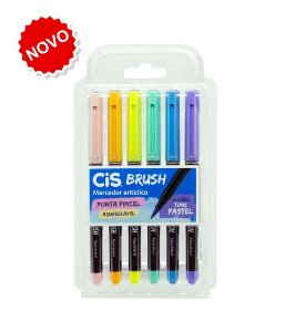Kit Caneta Brush Aquarelável Pastel C/6 Cis